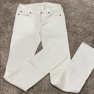 Madewell white straight jeans